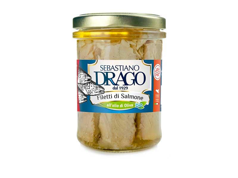 Filetti di salmone all'olio di oliva BIO